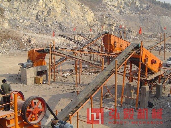 石头制砂机生产现场